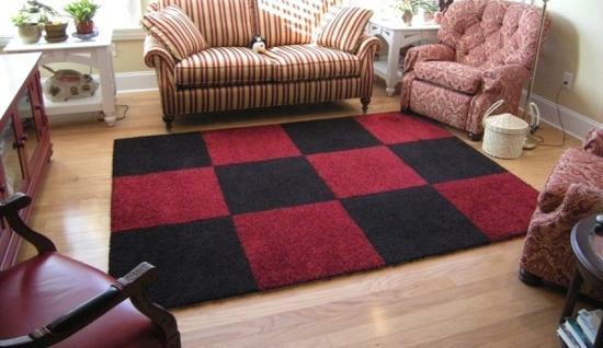 kusový koberec kostky