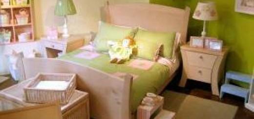 postel v detskem pokoji