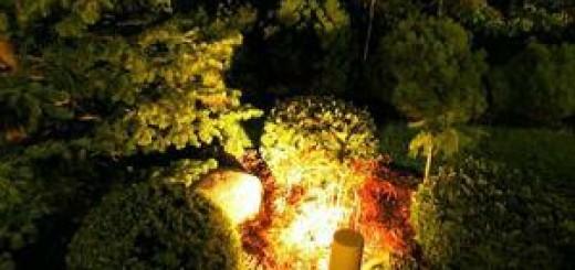 osvatleni zahrady